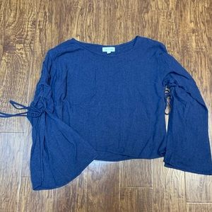 Anthropologie cloth & stone bell sleeve top
